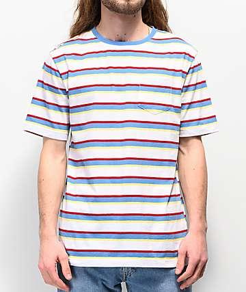 Zine Quarter camiseta de rayas blancas y azules
