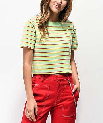 Zine Quinn camiseta corta menta de rayas