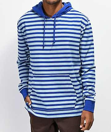 12579b0faa55 Zine Rafi Striped Blue Hoodie