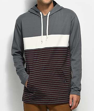 Zine Rafi camiseta gris y color crema con capucha