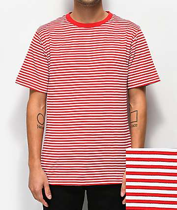 Zine Ranked Red & White Striped T-Shirt