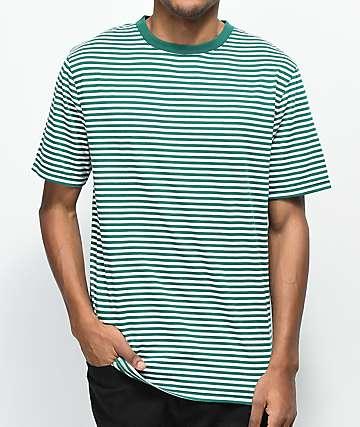 Zine Ranked camiseta de rayas verdes y blancas