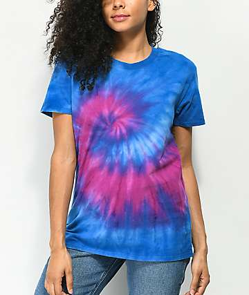 Zine Rayna Blue & Purple Tie Dye T-Shirt