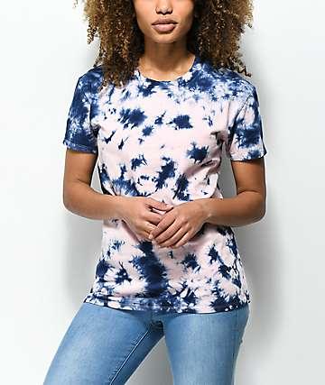 Zine Rayna Pink & Blue Tie Dye T-Shirt