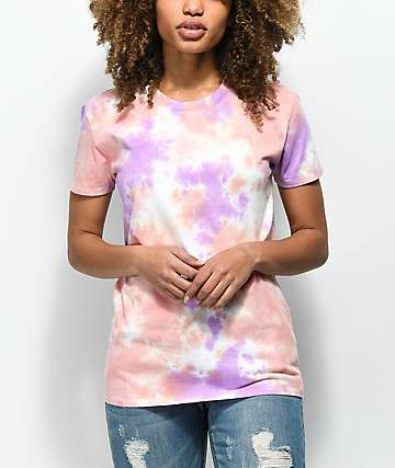Zine Rayna camiseta tie dye rosa y morada