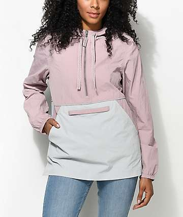 Zine Sabra Mauve & Grey Jacquard Windbreaker Jacket