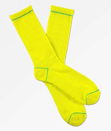 Zine Safety Green Flash Crew Socks