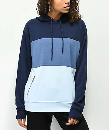 Zine Shenae sudadera con capucha azul de 3 tonos