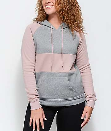 Zine Sherly Mauve & Heather Grey Hoodie
