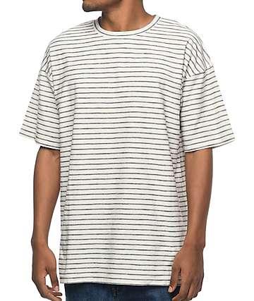 Zine Slouch camiseta a rayas en negro y natural
