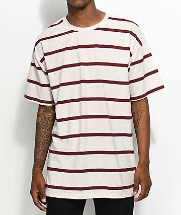 Zine Slouch camiseta a rayas en rojo y color crema