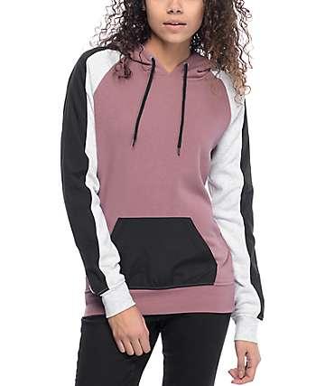 Zine Sophia sudadera con capucha en negro y rosa