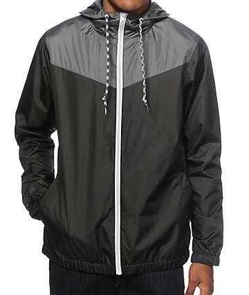 Zine Sprint Black & Charcoal Windbreaker Jacket
