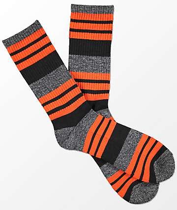 Zine Street Mecca calcetines a rayas en color naranja