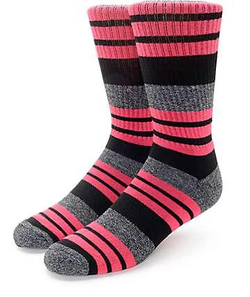 Zine Street calcetines en negro y rosa