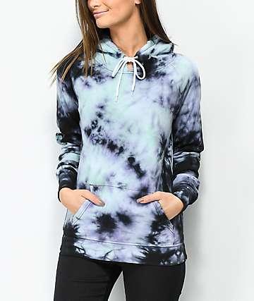Zine Tera Blue & Purple Tie Dye Hoodie