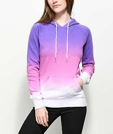 8d36680e6775b0 Purple Khaki Women s Pullover Hoodies