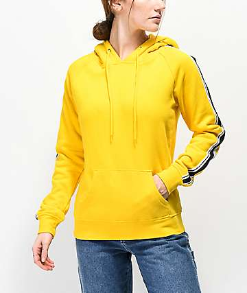 Zine Tera Taped Yellow Hoodie