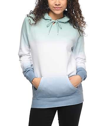 Zine Tera sudadera con capucha teñida en azul