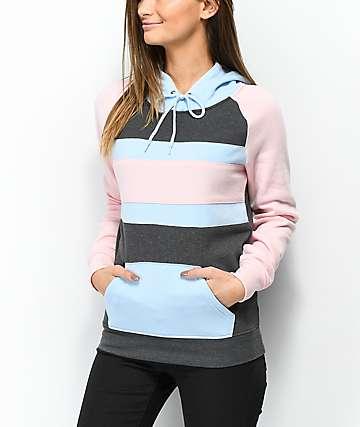 Zine Tolita Charcoal, Pink & Blue Hoodie