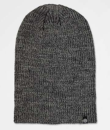 Zine Toque Black Heather Slouch Beanie