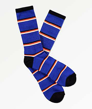 Zine Tried Mazarine Blue Crew Socks