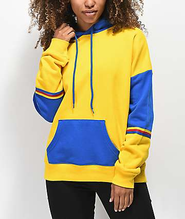 Zine Wesley Yellow & Blue Colorblock Hoodie