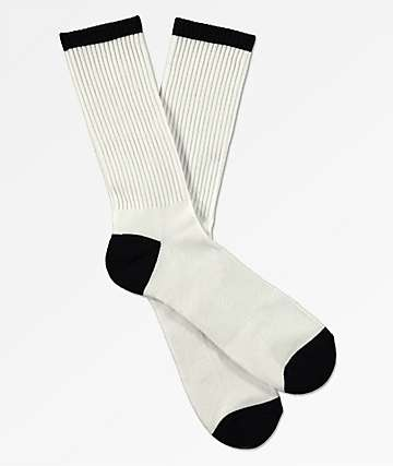 Zine White & Black Crew Socks