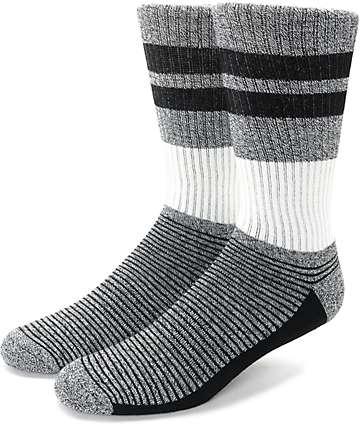 Zine You Betcha Black & Off White Crew Socks