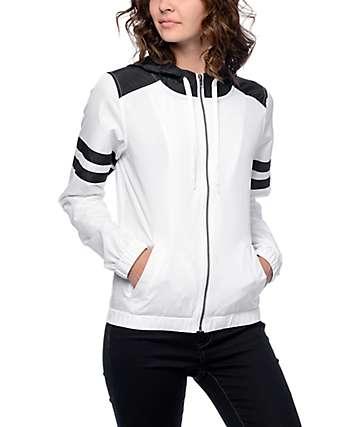 Zine Zion chaqueta cortavientos en blanco y negro