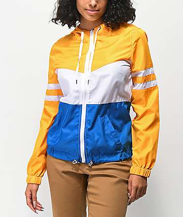 Zine Zuri Yellow, White & Blue Windbreaker Jacket