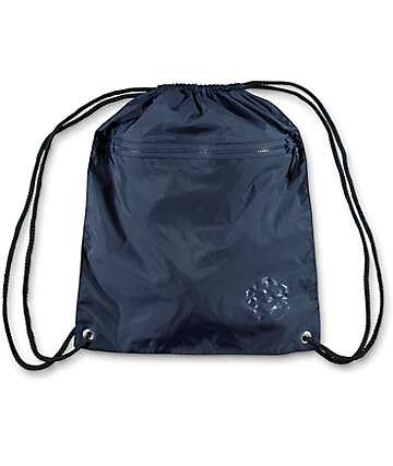 Zine bolso con cordón en azul marino