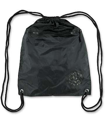 Zine bolso negro con cordón