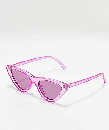Zoe gafas de sol en morado transparente