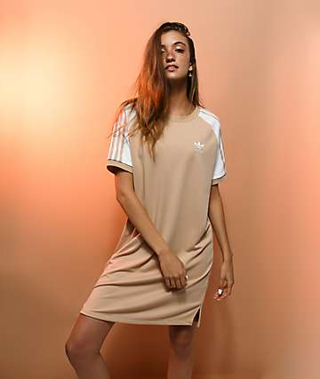 adidas 3 Stripe Ash Pearl Raglan Dress