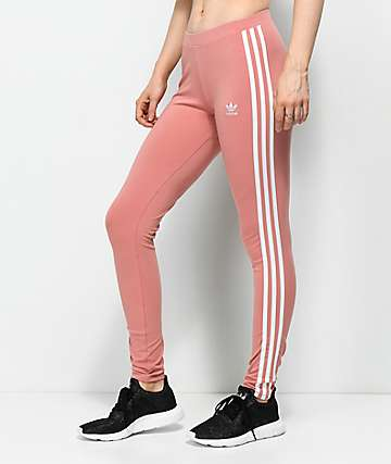 adidas 3 Stripe Ash Pink Leggings