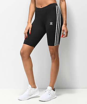 adidas 3 Stripe Black Bike Shorts