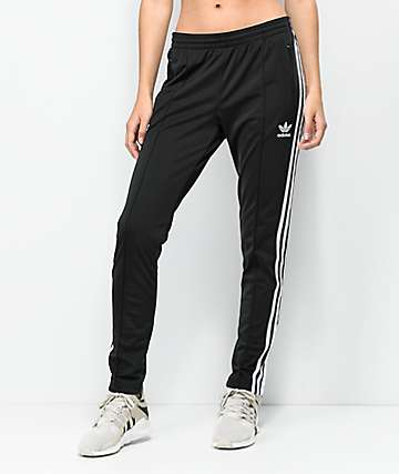 adidas 3 Stripe Black Track Pants