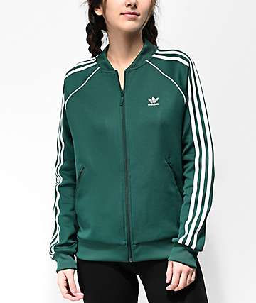 adidas 3-Stripe Collegiate Green Track Jacket