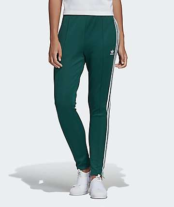adidas 3 Stripe Collegiate Green Track Pants