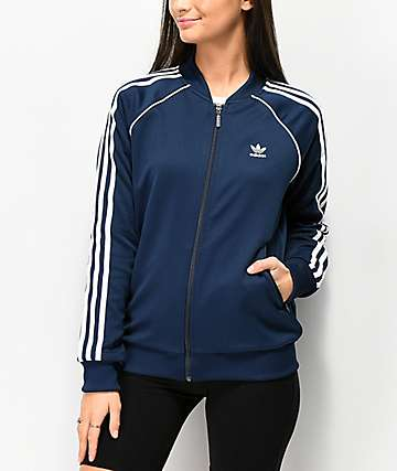 adidas 3 Stripe Collegiate Navy Track Jacket