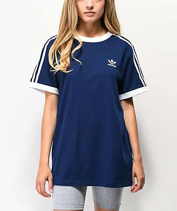 adidas 3-Stripe Dark Blue T-Shirt