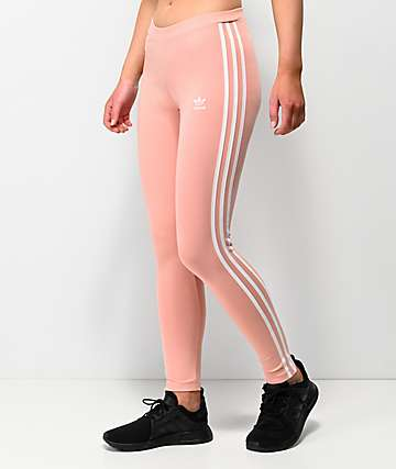 adidas 3 Stripe Dust Pink Leggings