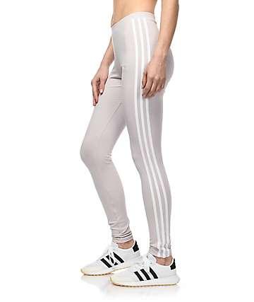 adidas 3 Stripe Lavender Leggings