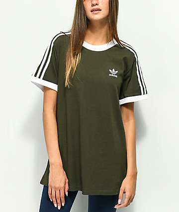 adidas 3 Stripe Night Cargo T-Shirt
