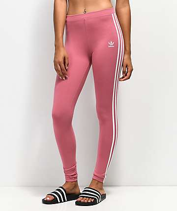 2085256fd8de0 adidas 3 Stripe Pink Leggings
