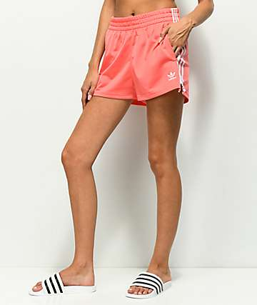 adidas 3 Stripe Pink Shorts