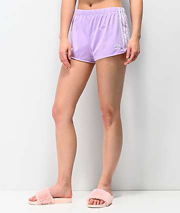 adidas 3 Stripe Purple Glow Shorts