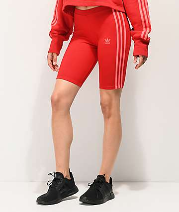 adidas 3-Stripe Scarlet Bike Shorts