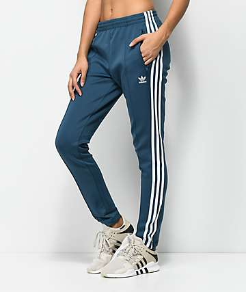 adidas 3 Stripe pantalones azules de chándal